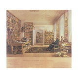 Baron Von Humboldt (1769-1859) in His Library Giclee Print by Eduard Hildebrandt