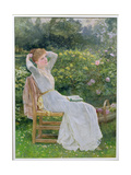 Summertime: Portrait of the Artist's Wife, Hannah Giclee Print by Edward Killingworth Johnson