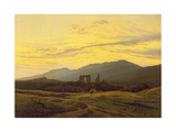 Caspar David Friedrich - Ruins in the Riesengebirge, 1830-34 Digitálně vytištěná reprodukce