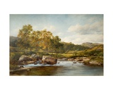 Stepping Stones on the River Llugwy, 1889 Giclee Print by David Bates