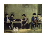 The Backgammon Game Giclee Print by Nathaniel Grogan