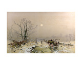 Winter Scene Giclee Print by Charles Branwhite