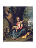 The Rest on the Flight into Egypt, 17th Century Giclee Print by Camillo Procaccini