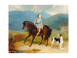 Master Edward Coutts Marjoriebanks on His Pony, C.1851 Giclee Print by  Abraham Cooper and Thomas Webster