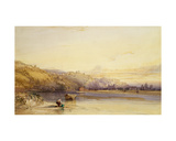 Banks of the River Saone, Lyon Giclee Print by William Callow