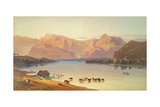 A View of Windermere Giclee Print by Aaron Edwin Penley