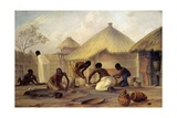 Manufacture of Sugar at Katipo - Making Pots to Contain It Giclee Print by Thomas Baines
