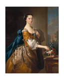 Margaret, Daughter of Sir George Chudleigh, Married Henry Oxendon Giclee Print by Thomas Hudson