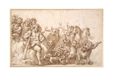 Pd.10-1922 Allegory of the Labours of Hercules Giclee Print by Pietro Da Cortona