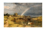 The Rainbow. 1854 Giclee Print by Henry Dawson