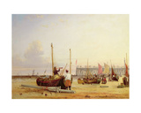 Yarmouth Jetty, Isle of Wight Giclee Print by Alfred Stannard