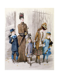 Mother and Children in Walking Dress Giclee Print by Jules David