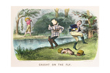 Caught on the Fly, Pub. by Currier and Ives, New York, 1879 Giclee Print by Thomas Worth