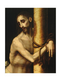 Christ Bound to the Column Giclee Print by Luis De Morales