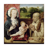 The Virgin and Child Worshipped by St.Bernard Giclée-Druck von Joos Van Cleve