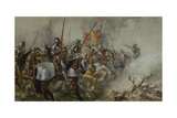 King Henry V at the Battle of Agincourt, 1415 Giclee Print by Sir John Gilbert