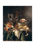 Still Life with a Silver Wine Jar with a Reflected Portrait of the Artist Giclee Print by Abraham Hendricksz Van Beyeren