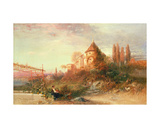 Vineyards at Meran, Tyrol Giclee Print by Frederick Lee Bridell