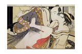 Lovers from the 'Poem of the Pillow' Giclee Print by Kitagawa Utamaro