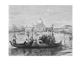 A Burial in Venice, from the Painting 'Going to the Campo Santo' Giclee Print by Clara Montalba