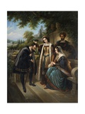 Queen Isabella and Columbus Giclée-Druck von Henry Nelson O'Neil