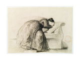 Study of a Woman Weeping Giclee Print by Jean-Baptiste Carpeaux