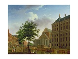 Back of New Palace and Church, Amsterdam Giclee Print by Isaak Ouwater