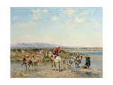 Arabs at an Oasis Giclee Print by Georges Washington