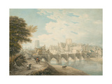 North-East View of Durham, C.1783 Giclee Print by Thomas Hearne