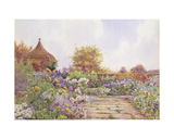 An English Country Garden Giclee Print by Ernest Arthur Rowe
