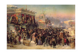 Fair Booths on Admiralty Square, St. Petersburg, 1869 Giclee Print by Konstantin Egorovich Makovsky