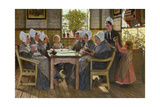 Our Poor: a Bible Reading, Chelsea Workhouse, 1878 Giclee Print by James Charles