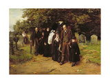 I Am the Resurrection and the Life, or the Village Funeral, 1872 Giclee Print by Frank Holl