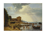 The Beach at Sorrento with a View of the Island of Capri Giclee Print by Silvestr Fedosievich Shchedrin