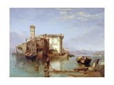 View on the Mediterranean, 1834-35 Giclee Print by George Clarkson Stanfield