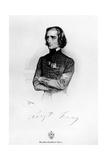 Portrait of Franz Liszt (1811-86) 1839 Giclee Print by Josef Nikolaus Kriehuber