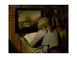 A Young Boy Copying a Painting Giclée-Druck von Wallerant Vaillant