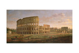View of the Colosseum with the Arch of Constantine, C.1716 Giclee Print by Gaspar van Wittel