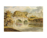 Clare Bridge on the River Cam Giclee Print by John Ward