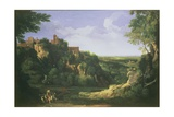 View of Tivoli with Rome in the Distance, 17th Century Giclee Print by Gaspard Poussin Dughet