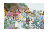 The Cottage Garden Giclee Print by David Woodlock