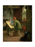 The Writing Lesson, 1855 Giclee Print by James Collinson