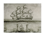 View of the Southwell Frigate Trading on the Coast of Africa, C.1760 Giclee Print by Nicholas Pocock