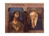 Christ and the Grieving Virgin Giclee Print by Hugo van der Goes