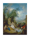 A Rustic Party Giclee Print by Jean-Baptiste Joseph Pater