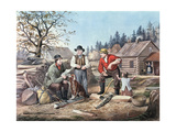 Arguing the Point - the Latest News, 1855 Giclee Print by  Currier & Ives