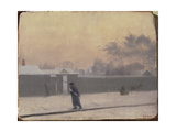Wintry Street on Vasilievsky Island, St. Petersburg, C.1851 Giclee Print by Pavel Andreevich Fedotov