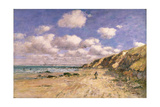 A Beach Near Trouville, 1895 Giclee Print by Eugène Boudin