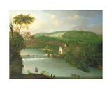 A View of the Abbey Mill and Weir on the River Avon, Bath Giclee Print by Thomas Ross