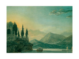 Isola Bella, Lake Maggiore, at Dusk Giclee Print by John Robert Cozens